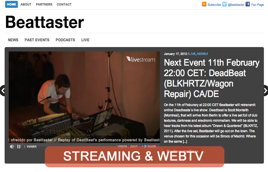 Desarrollo web TV y producción live streaming para Beattaster.com | Red Torres