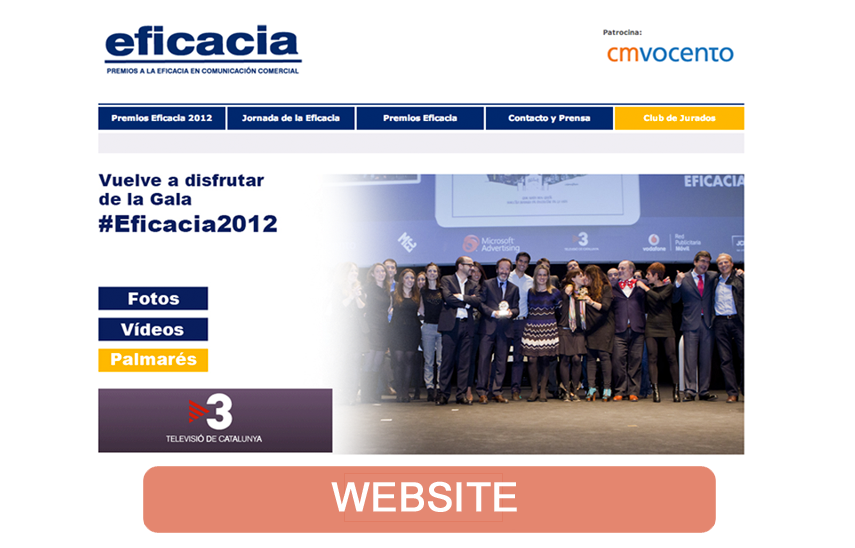 Nueva web para Premios Eficacia 2012 | Red Torres