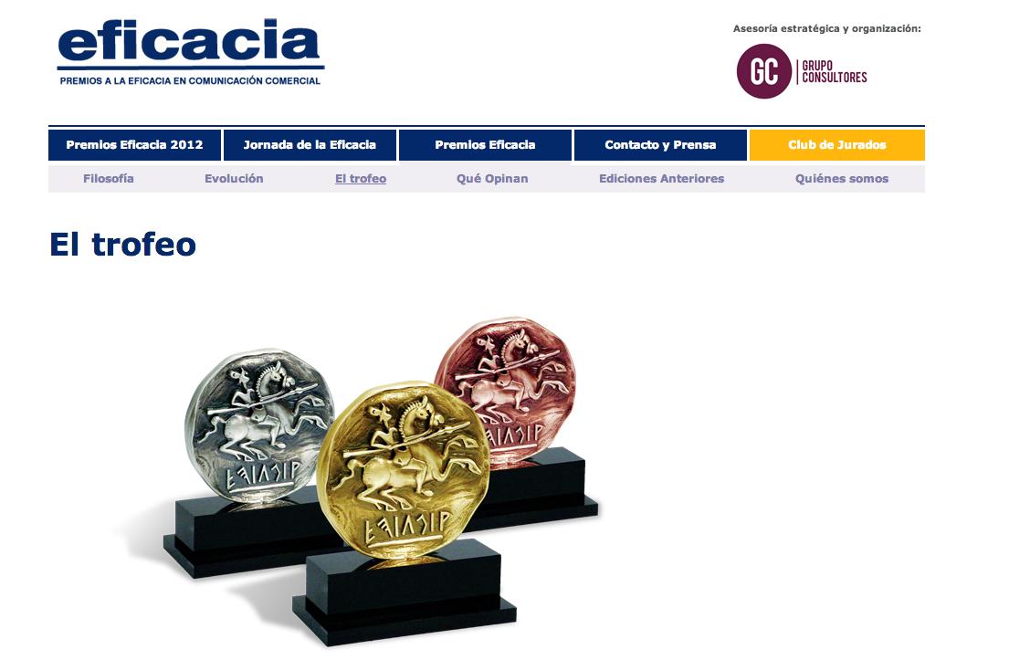 Consultoría Web para Premios Eficacia 2012 | Red Torres