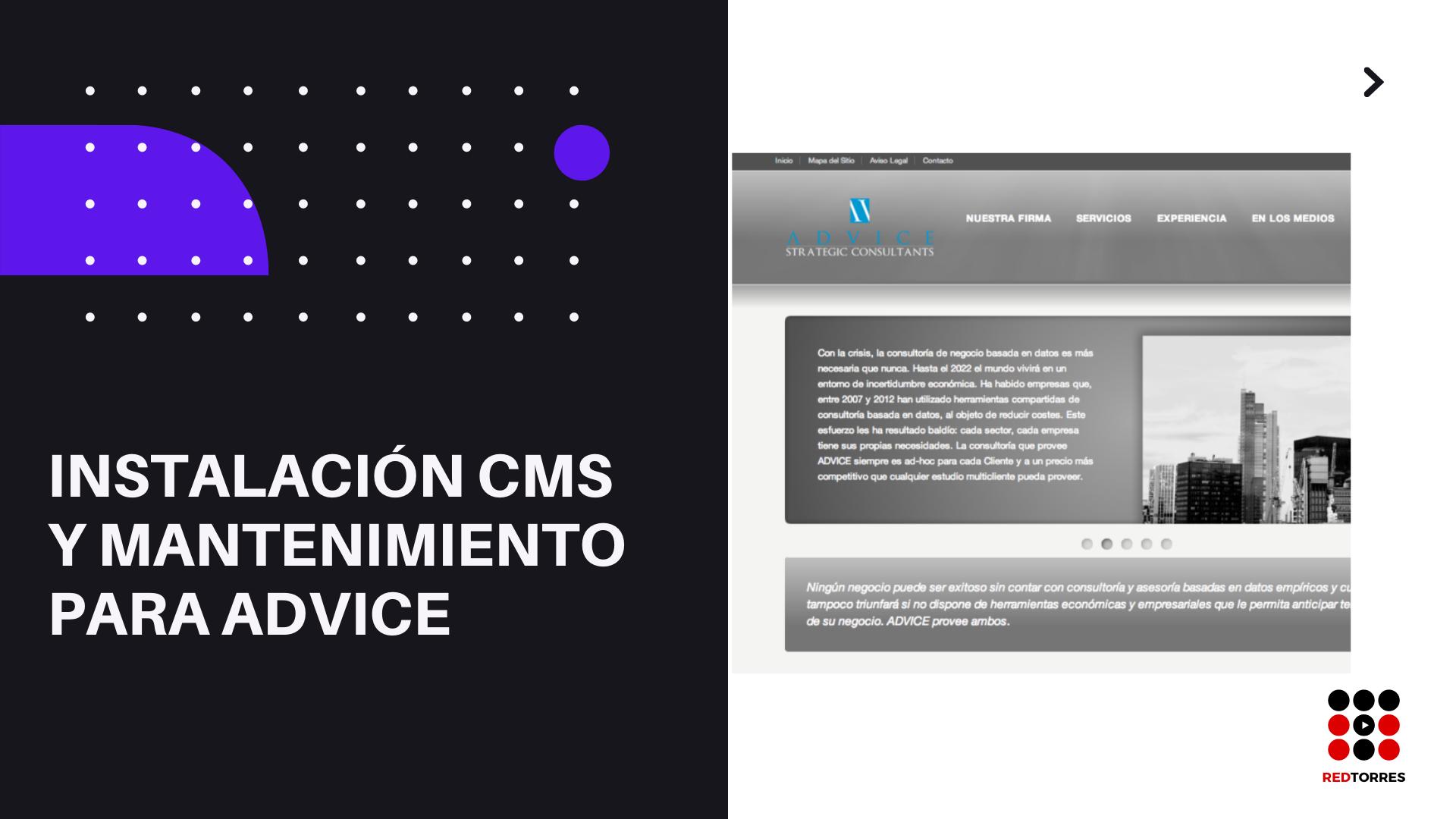 Consultoria desarrollo web para ADVICE STRATEGIC CONSULTANTS | REDTORRES