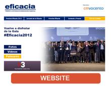 Consultoría y desarrollo web Premios Eficacia 2012