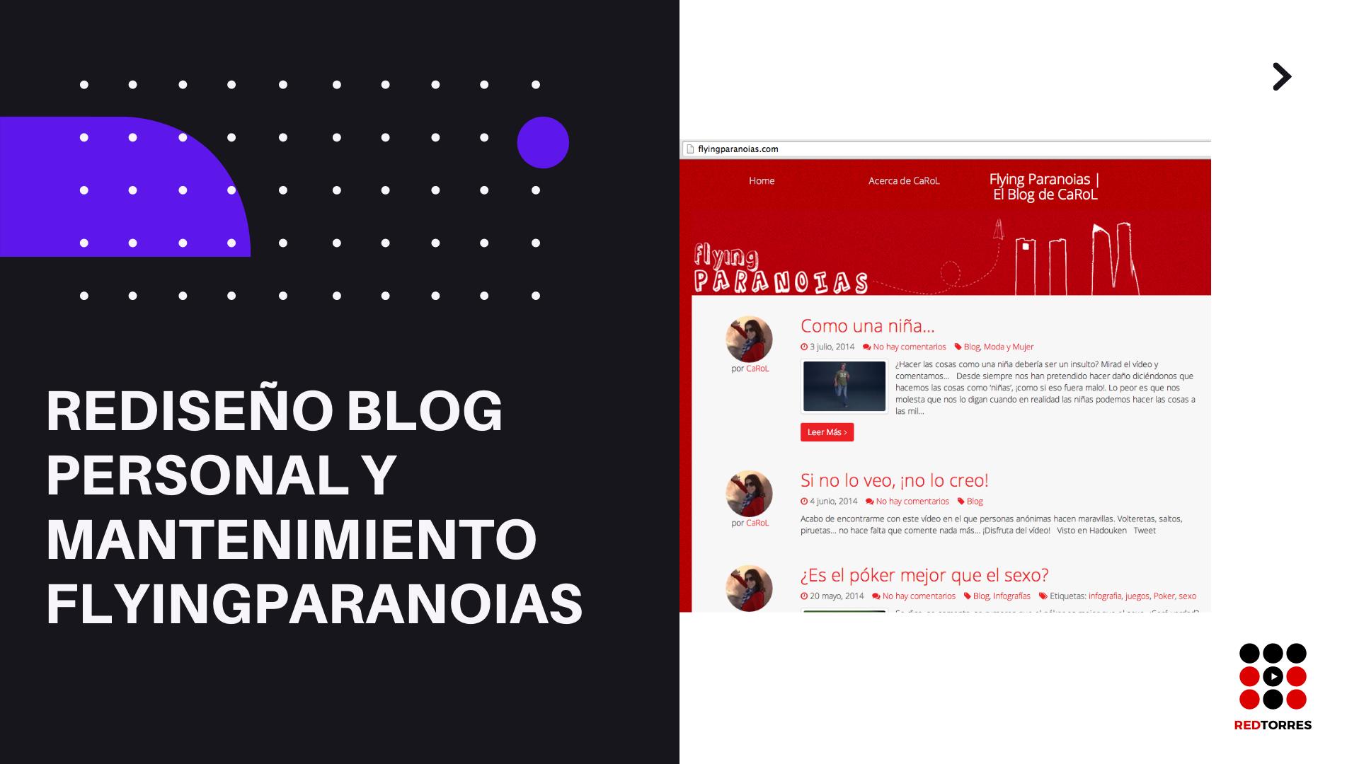 Blog Personal en Wordpress con tema responsive | REDTORRES