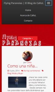 Blog Wordpress Responsive vista smartphone | Red Torres