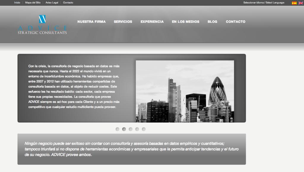 Portada web Advice Strategic Consultants | Red Torres