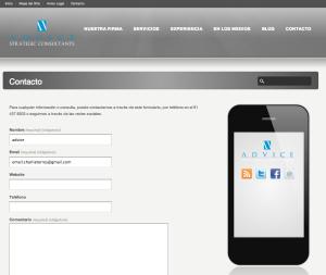 Detalle Contacto Web Advice Strategic Consultants | Red Torres
