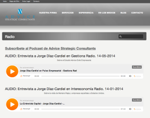 Detalle Clippings Radio en web Advice Strategic Consultants | Red Torres
